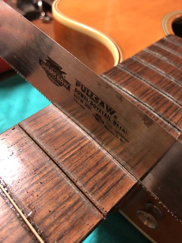 cleaning fret slots